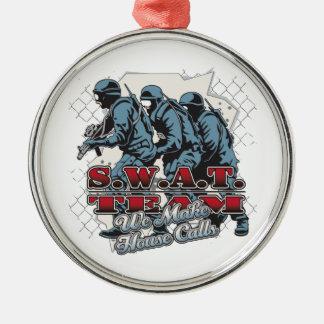 SWAT Team House Calls Metal Ornament
