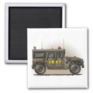 SWAT Team Hummer Square Magnet