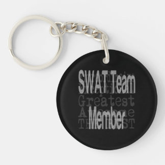 SWAT Team Member Extraordinaire Double-Sided Round Acrylic Keychain