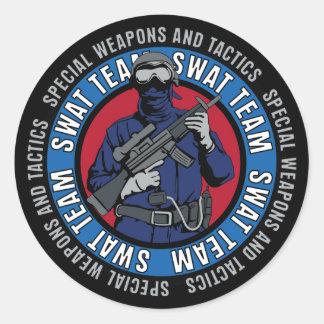 Swat Team Round Stickers