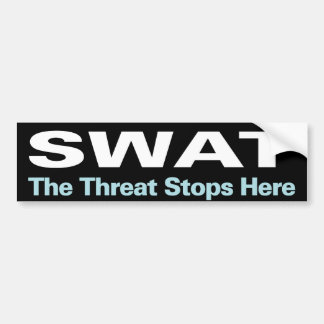 SWAT...The Threat Stops Here Bumper Sticker