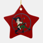 swat Vintage Witch Christmas Tree Ornament