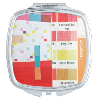 Swatch and Grid mini collage Makeup Mirror
