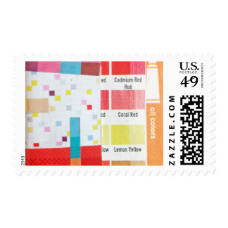 Swatch and Grid mini collage Postage