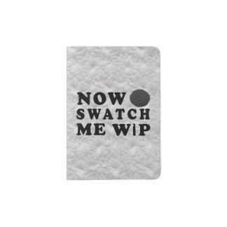 Swatch yo WIP - mazarota del hilado del arte Porta Pasaporte