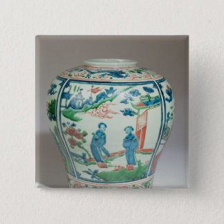 Swatow polychrome oviform jar, late 16th century button