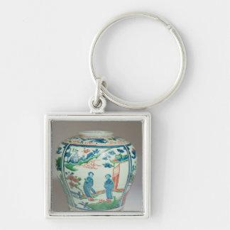 Swatow polychrome oviform jar, late 16th century keychain