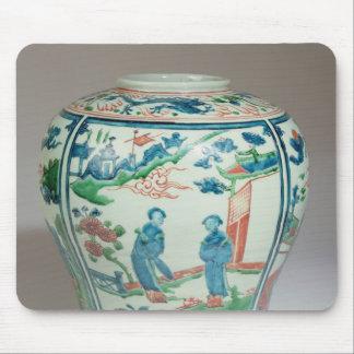 Swatow polychrome oviform jar, late 16th century mousepads
