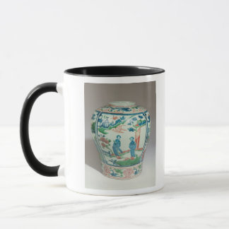 Swatow polychrome oviform jar, late 16th century mug