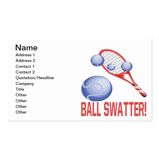 Swatter de la bola tarjetas de visita