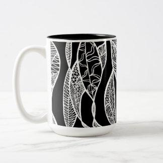 Sway (black background) Two-Tone coffee mug