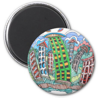 SWAY CITY 2 INCH ROUND MAGNET