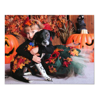 Sway - Labrador and Collie Mix - Mohs 4.25x5.5 Paper Invitation Card