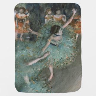 Swaying Dancer, Dancer in Green by Edgar Degas Baby Blanket