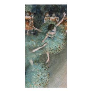 Swaying Dancer, Dancer in Green by Edgar Degas Card