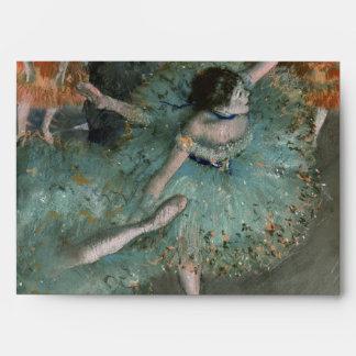 Swaying Dancer Dancer in Green by Edgar Degas Envelopes