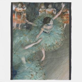 Swaying Dancer, Dancer in Green by Edgar Degas Fleece Blanket