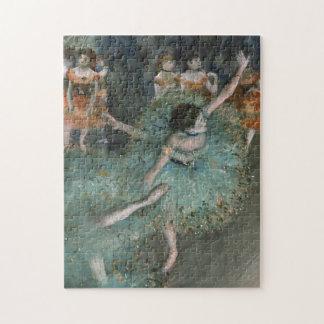 Swaying Dancer, Dancer in Green by Edgar Degas Jigsaw Puzzle