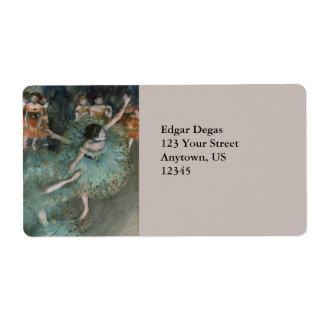 Swaying Dancer, Dancer in Green by Edgar Degas Label