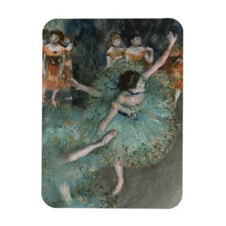 Swaying Dancer, Dancer in Green by Edgar Degas Magnet