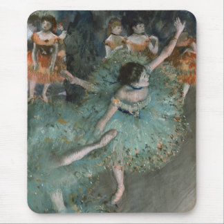 Swaying Dancer, Dancer in Green by Edgar Degas Mouse Pad