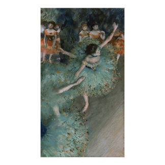 Swaying Dancer, Dancer in Green by Edgar Degas Poster