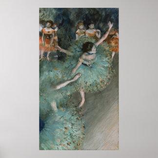 Swaying Dancer, Dancer in Green by Edgar Degas Print