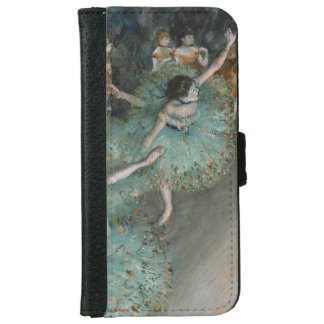 Swaying Dancer, Dancer in Green by Edgar Degas Wallet Phone Case For iPhone 6/6s