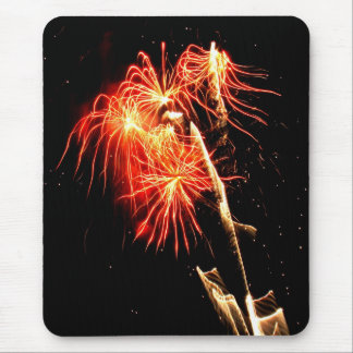 Swaying Flames Mouse Pad