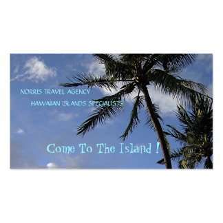 """""""Swaying Palm Trees, Blue Sky,White Clouds"""" photog Business Card"""