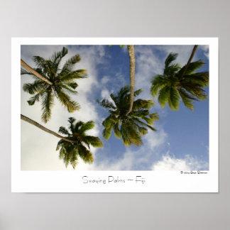 Swaying Palms ~ Fiji ~ Travel Poster