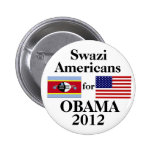 Swazi Americans for Obama 2 Inch Round Button