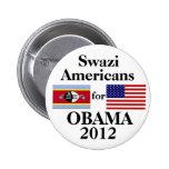 Swazi Americans for Obama Button