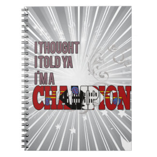 Swazi and a Champion Notebook