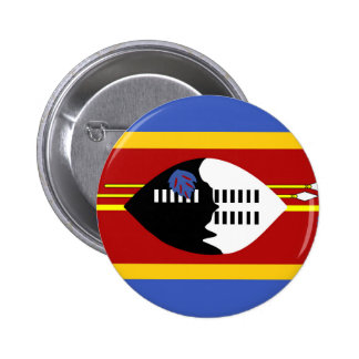 swaziland country long flag nation symbol pinback button