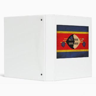 Swaziland Flag 3 Ring Binder