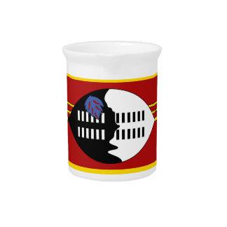 Swaziland Flag Beverage Pitcher
