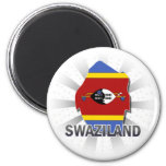 Swaziland Flag Map 2.0 Fridge Magnet