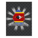 Swaziland Flag Map 2.0 Postcard