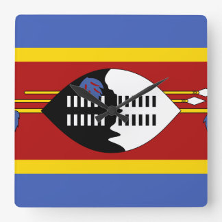 Swaziland Flag Square Wall Clock