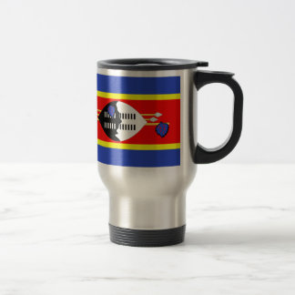 Swaziland Flag Travel Mug