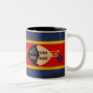 Swaziland Flag Two-Tone Coffee Mug