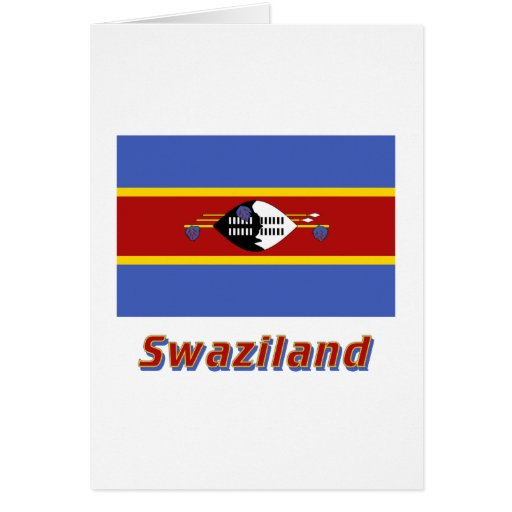 Swaziland Flag with Name Greeting Card