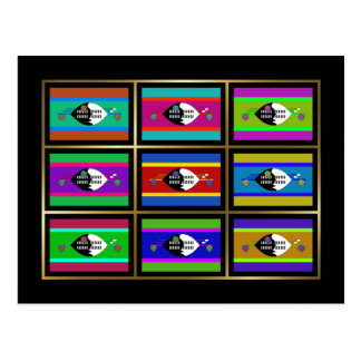 Swaziland Multihue Flags Postcard