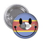 Swaziland Smiley 1 Inch Round Button