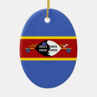 Swaziland – Swazi Flag Ceramic Ornament