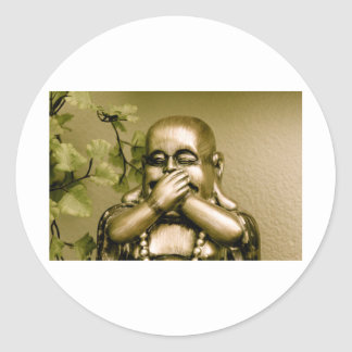 Swear to Buddha! Classic Round Sticker
