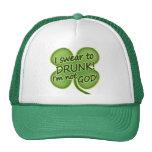 Swear To Drunk I'm Not God Hats