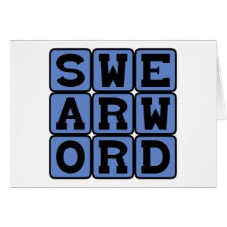 Swear Word, Curse Word Card