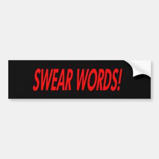Swear Words Bumper Sticker